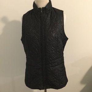 Chico's Black Zip Up Quilted Vest